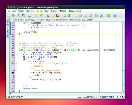 Thanks to its Java underpinnings, jEdit doesn't really feel at home on any desktop environment