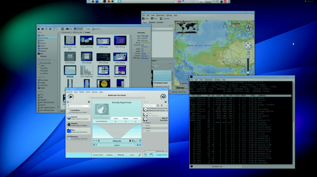 Remove the blue glow and change a few of the display options, and KDE starts to look pretty good in our opinion.