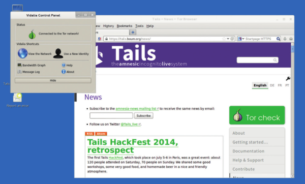 Booting Tails from a USB stick will keep your connections anonymous through the Tor network.