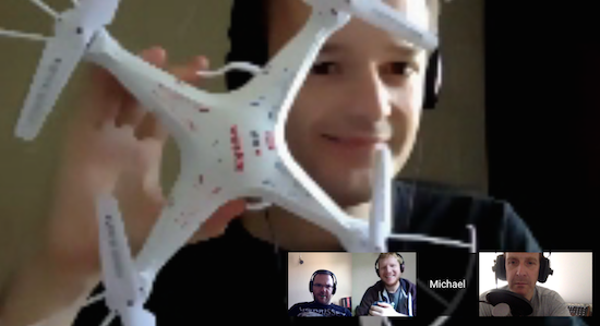 Mike shows us his deadly quadcopter!