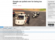 The list of requests for a BBC news article on the Google Car
